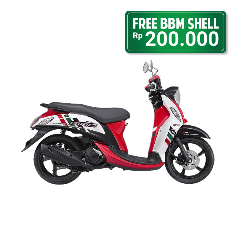 Yamaha Fino FI Sporty Exciting Red White Bogor